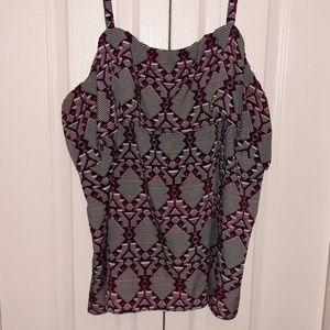 Fashion Bug top pink/purple size 3X